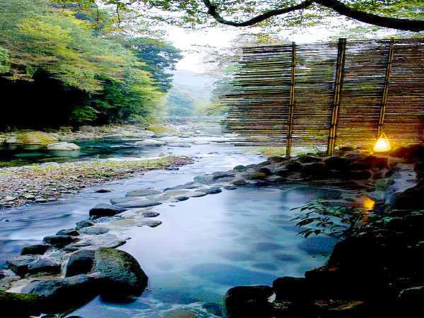 湯ヶ島温泉 湯本館 野天風呂|天...